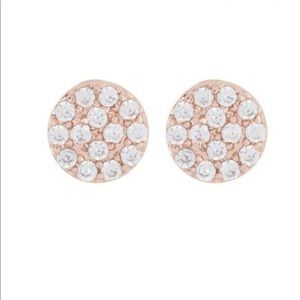 Gorjana RG/CZ Pristine Charm Stud Earrings